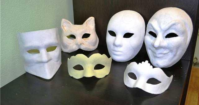 карнавальные маски в технике папье маше можно сделать в домашних условиях