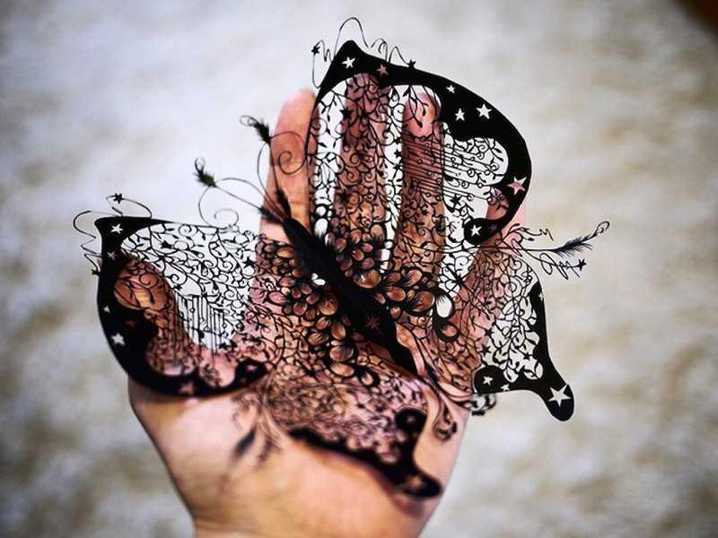 декор из бумаги своими руками можно сделать такую бабочку