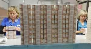 как выглядит производство денег из бумаги для денег
