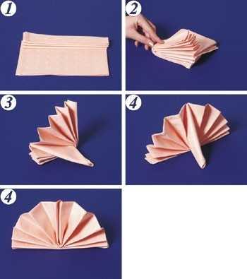 бумажные салфетки легко складываются гармошкой