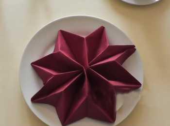 бумажные салфетки сложенные в виде лилии