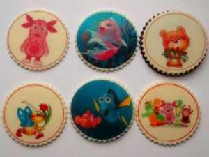 печенье с напечатанными рисунками на струйном пищевом принтере