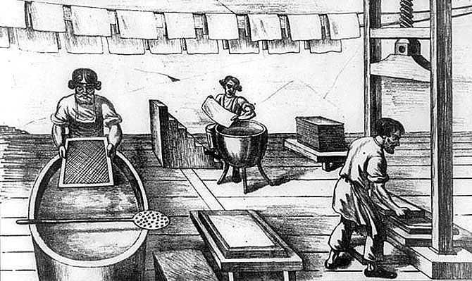 История создания бумаги
