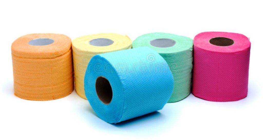 разные цвета туалетной бумаги