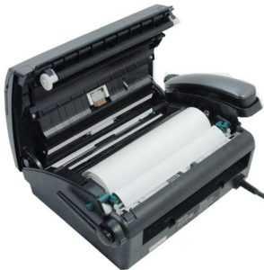 факс с заправленной термобумагой