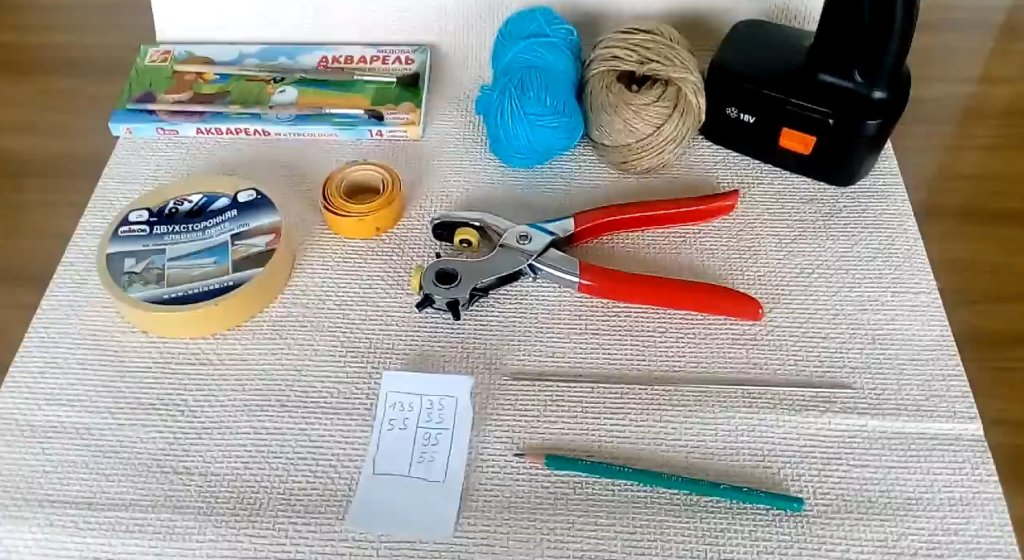 что нужно для изготовления римских штор из бумаги своими руками