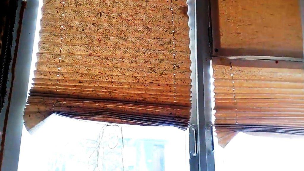 римские шторы из бумаги на окнах в фотографиях