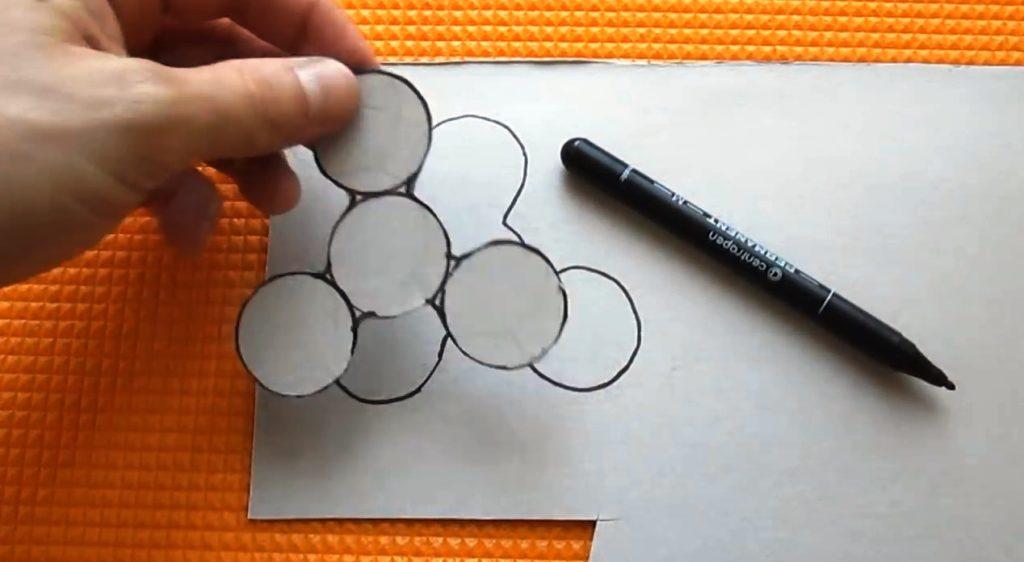 как сделать две части спиннера из бумажного сырья