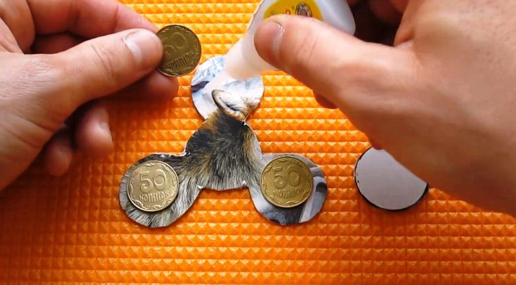 монетки для спиннера могут быть любого размера