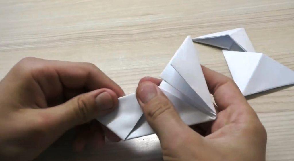 поделка спиннер из тонкой бумаги
