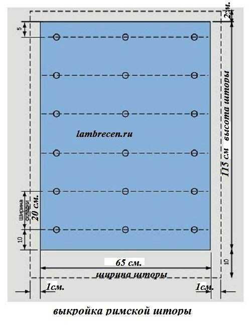 шаблон римских подъемных штор