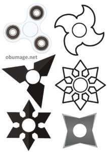 клпиарт черно-белых шаблонов для изготовления спиннера из бумаги в домашних условиях на коленке