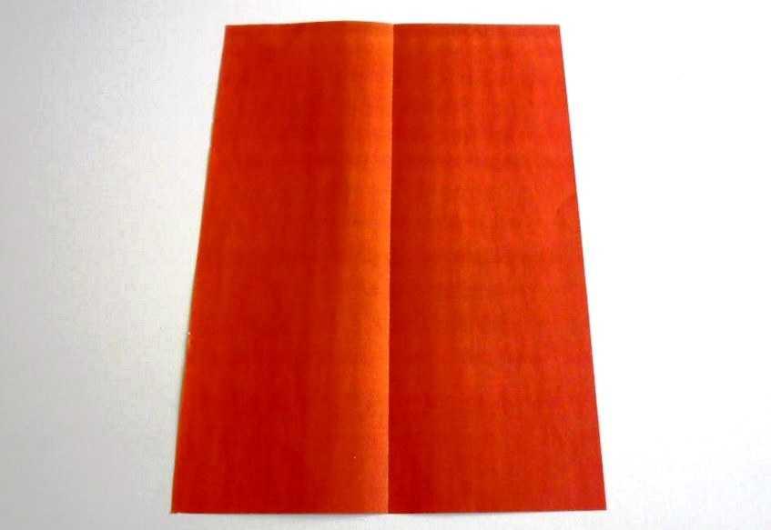 согнуть лист формата а4 пополам