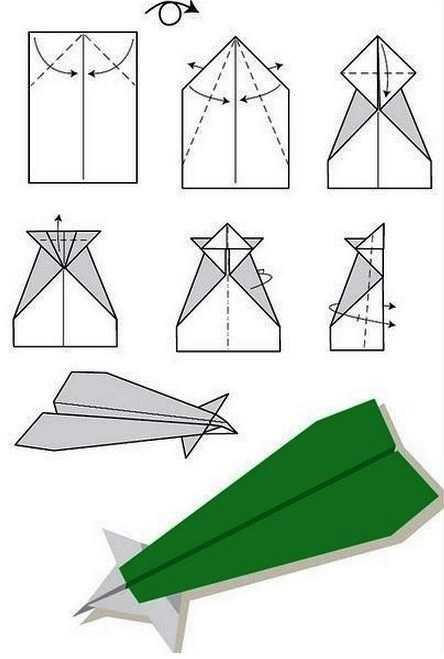 Как сделать самолет с носовым оперением из бумаги на 100 метров полета