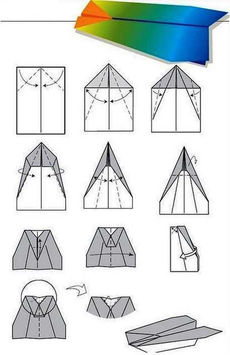 Как сделать самолет из бумаги с тупым носом на 100 метров полета