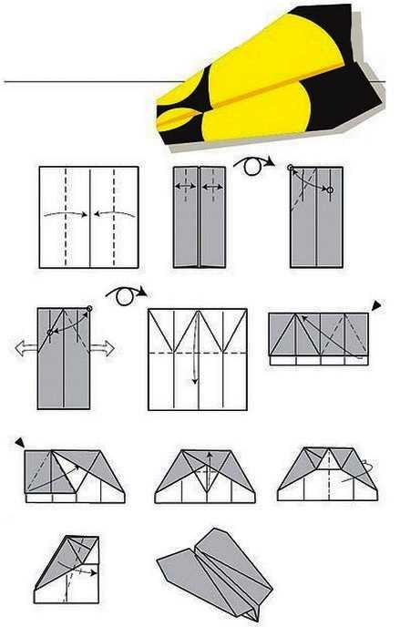 Как сделать самолет из бумаги с тупым носом доработанный на 100 метров полета