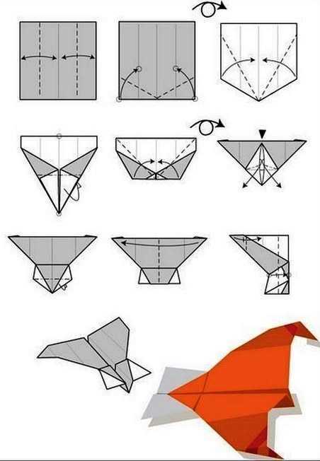 Как сделать самолет из бумаги со стабилизаторами и формой крыла на 100 метров полета