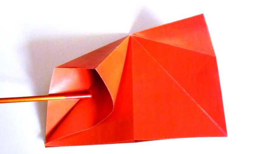 вывернуть кармашки оригами