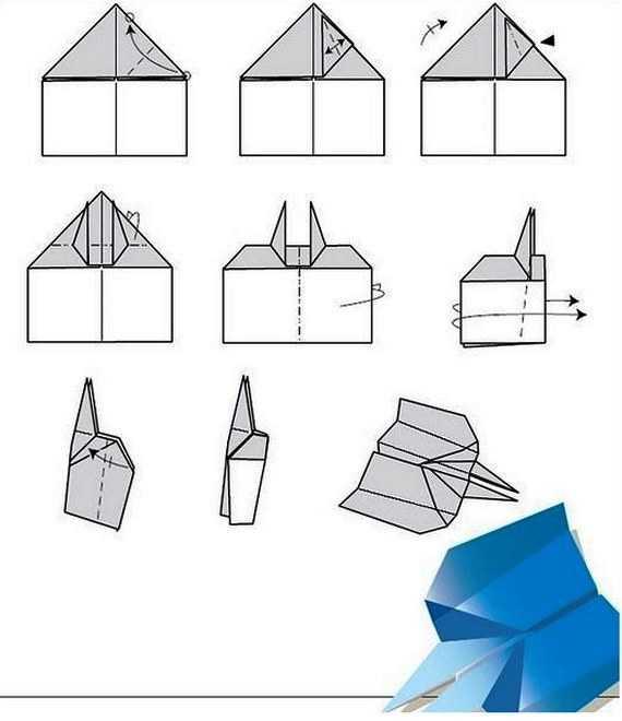 Как сделать самолет из бумаги колющий врагов на 100 метров полета