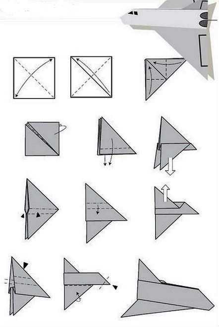 Как сделать космический челнок из бумаги на 100 метров полета