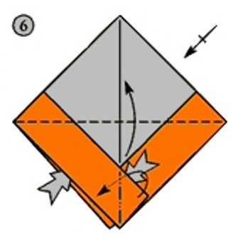 квадрат бумаги нужно сложить пополам чтобы получился треугольник для будущего корабля