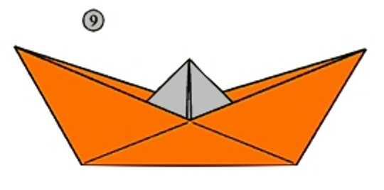 готовый кораблик из бумаги любого размера
