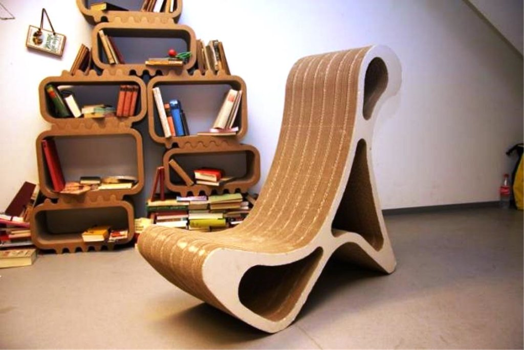 мебель из картона по дизайнерски