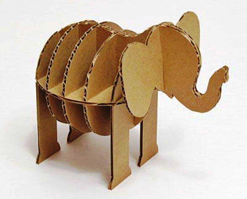 подставка для игрушек из картона