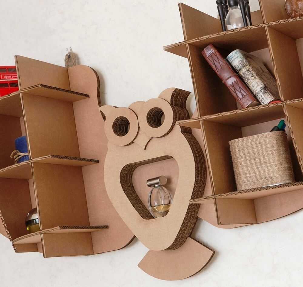 Мебель из картона: необычные варианты