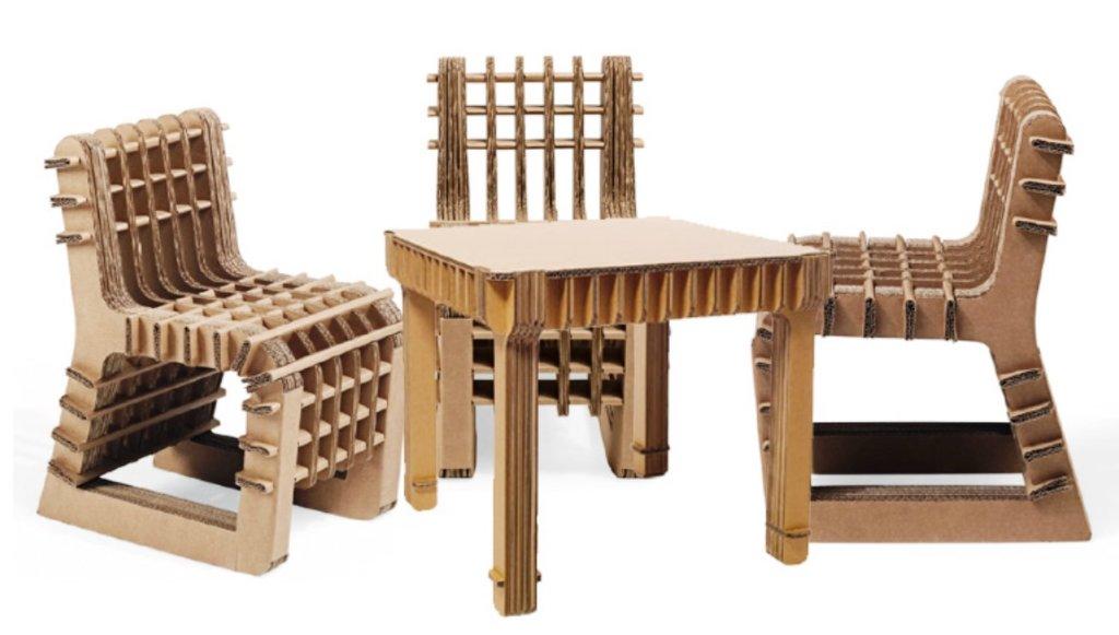 столы и стулья из картона