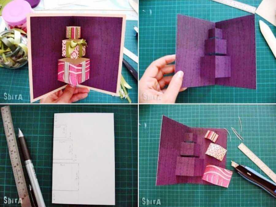 инструкция по изготовлению объемной открытки