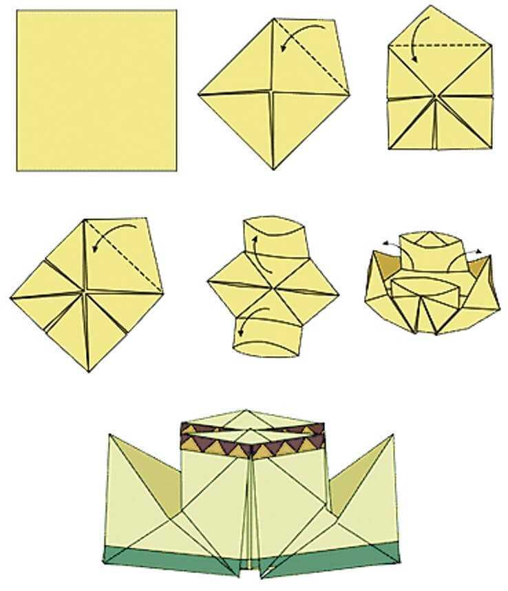 как собрать пароходик из бумаги