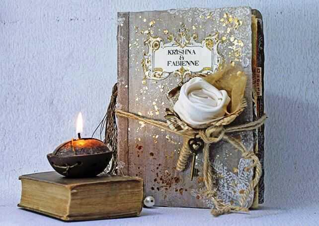 декор книги из бумаги