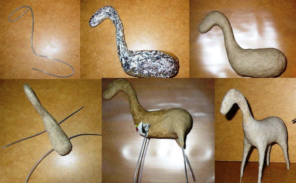 how to make an animal out of papier mache and wire