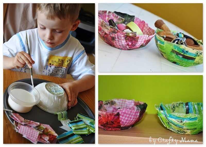 beautiful papier-mâché plate for children