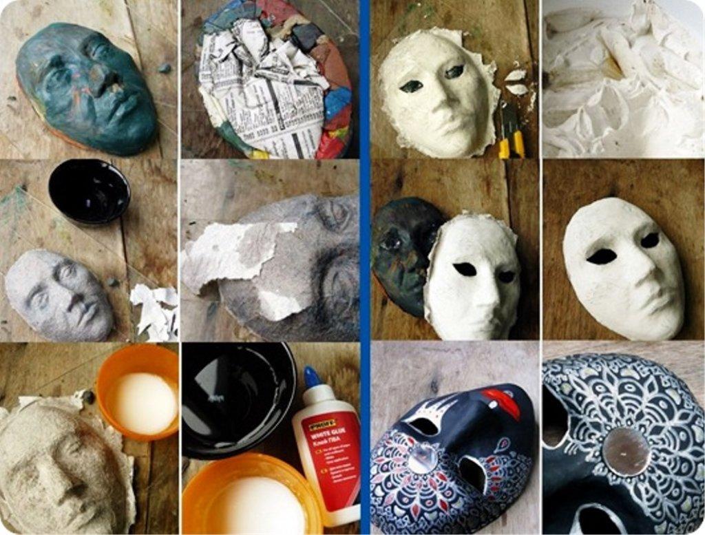как сделать маску из папье маше тех укров
