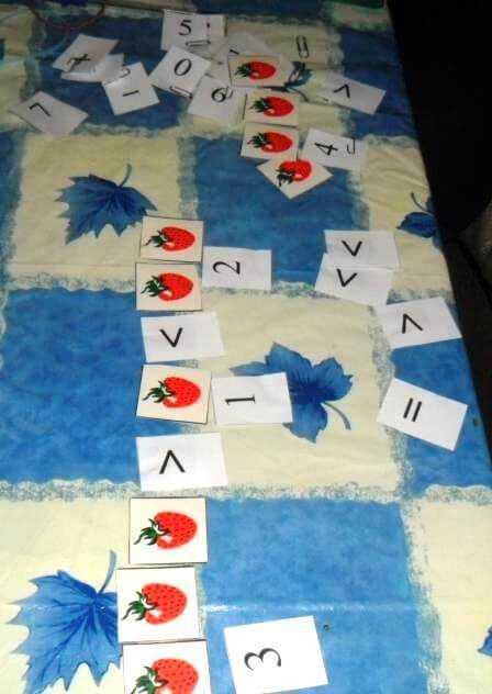 вырезаем карточки и цифры для занятий с ребенком