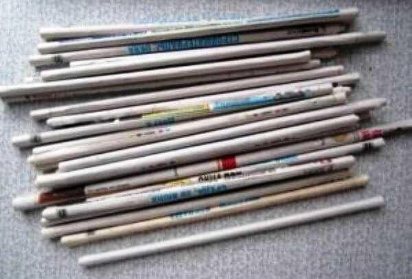 Панно из газетных трубочек