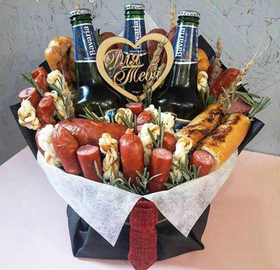 букеты мужчине на день рождения фото прикольные из пива поделки