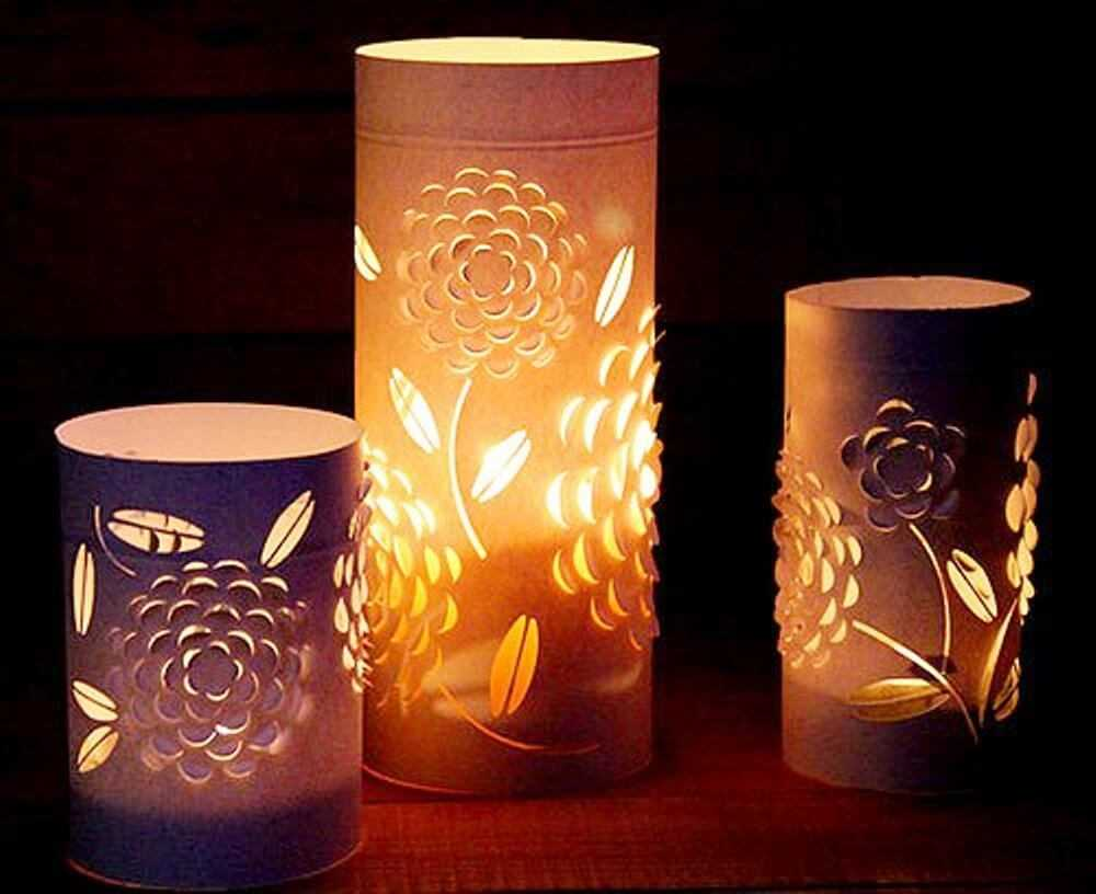 круглые светильники ручной работы вырезаны из бумаги