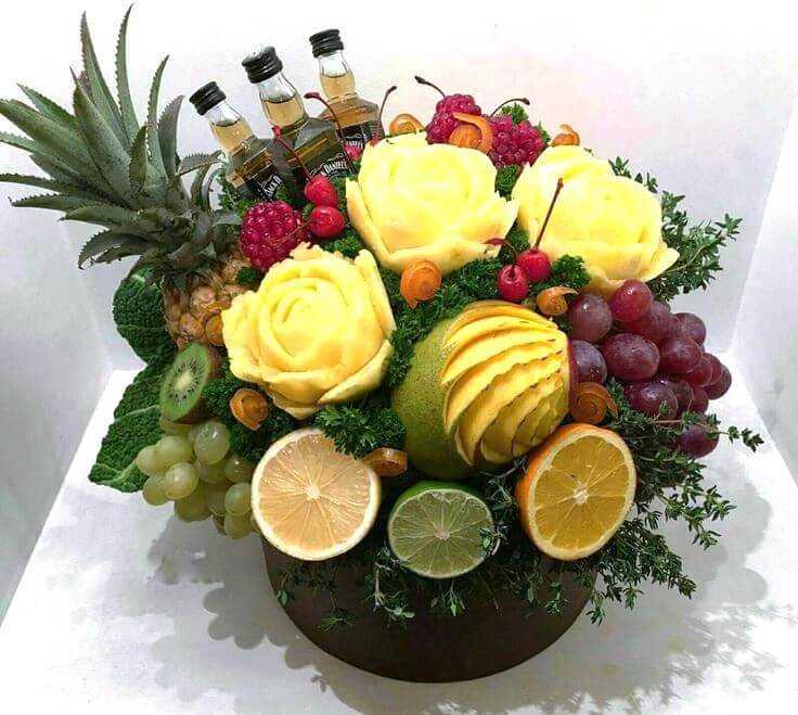 пошаговая инструкция как сделать фруктовый букет