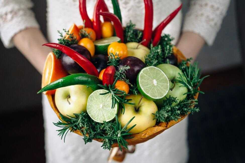 букет из фруктов мастер класс с фото квартире