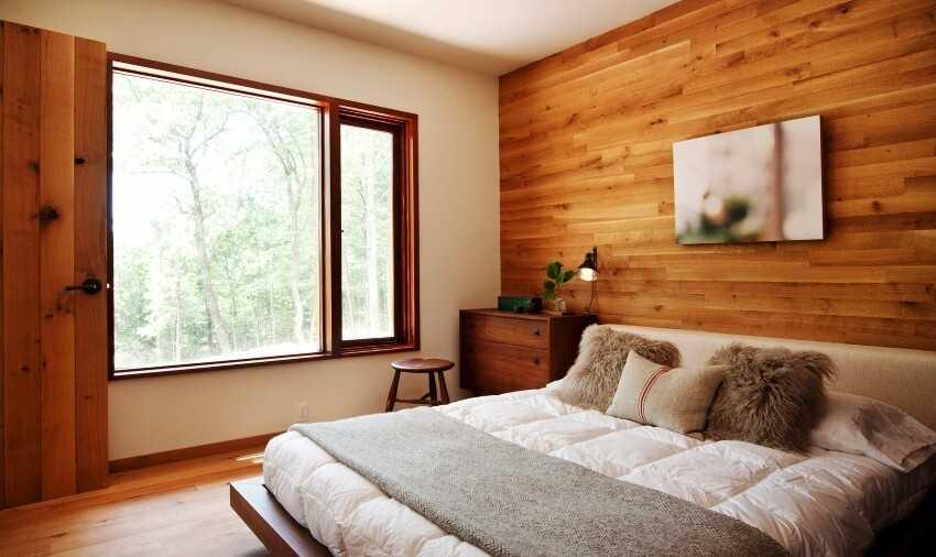 сочетание цвета дверей и стены в спальне
