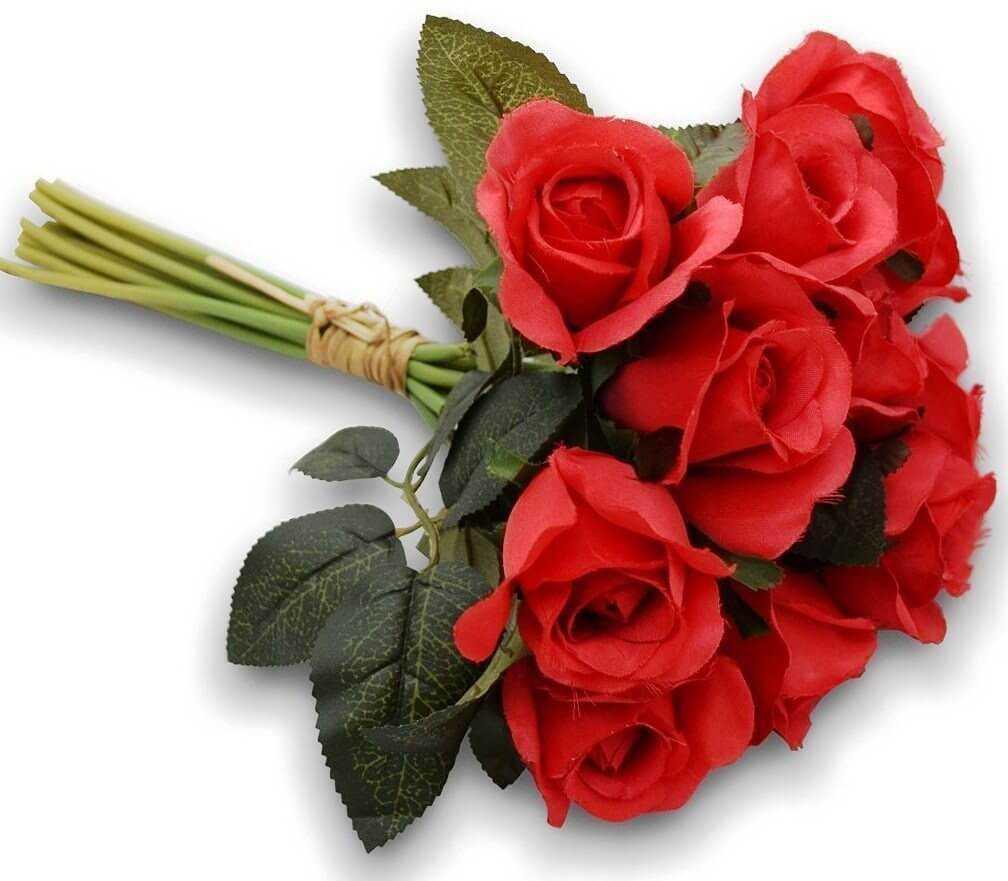 простой букет из живых роз своими руками