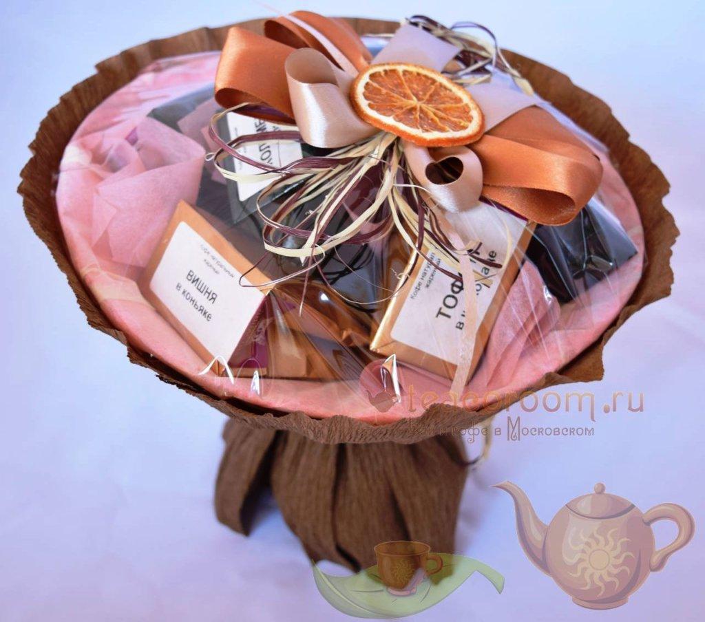 Цветы, как сделать подарочный букет из чая