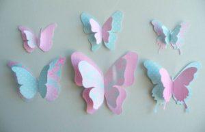 Ажурная бабочка своими руками для аппликации