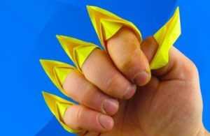 Как сделать бумажные ногти для детей в домашних условиях