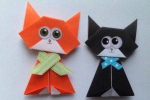 Топ-10 лучших поделок кошек оригами